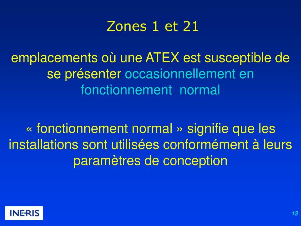 Zones 1 et 21