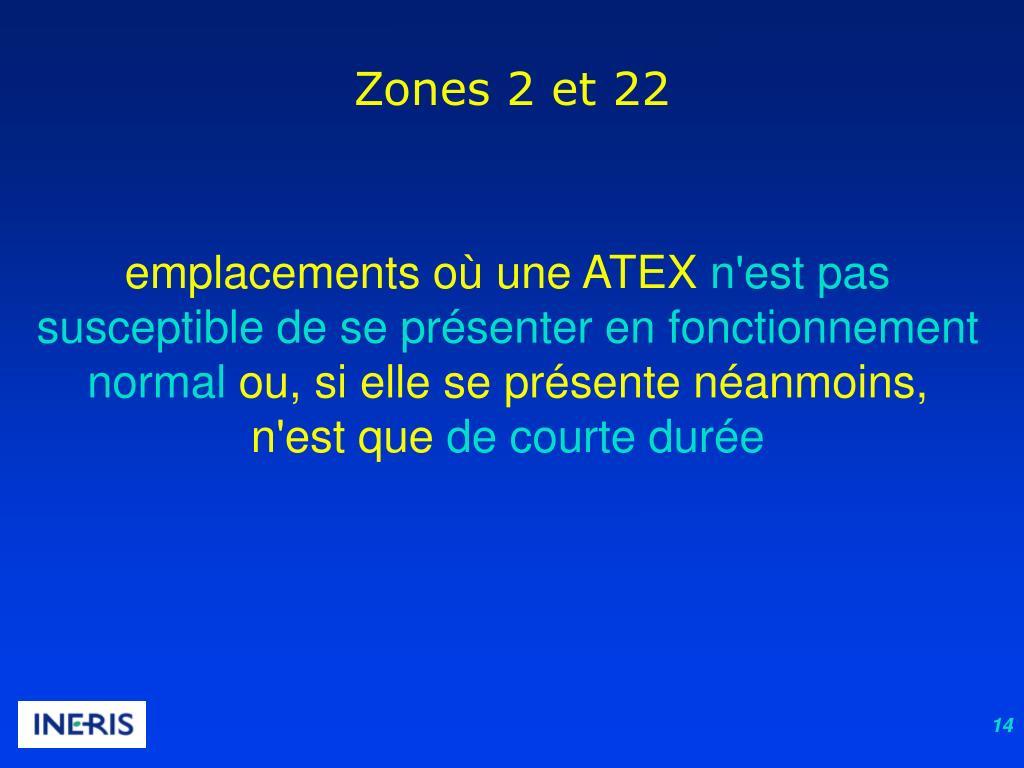 Zones 2 et 22