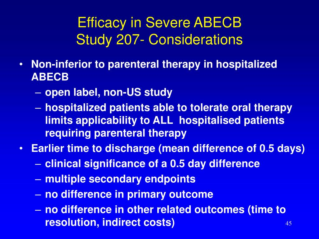 Efficacy in Severe ABECB