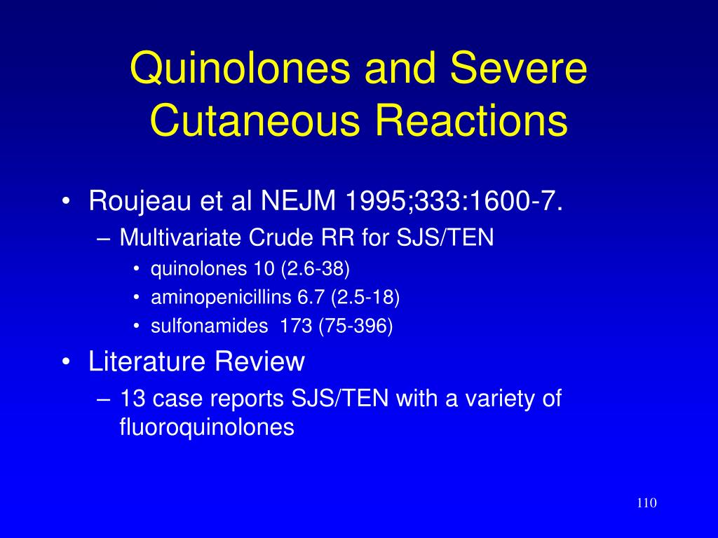 Quinolones and Severe Cutaneous Reactions