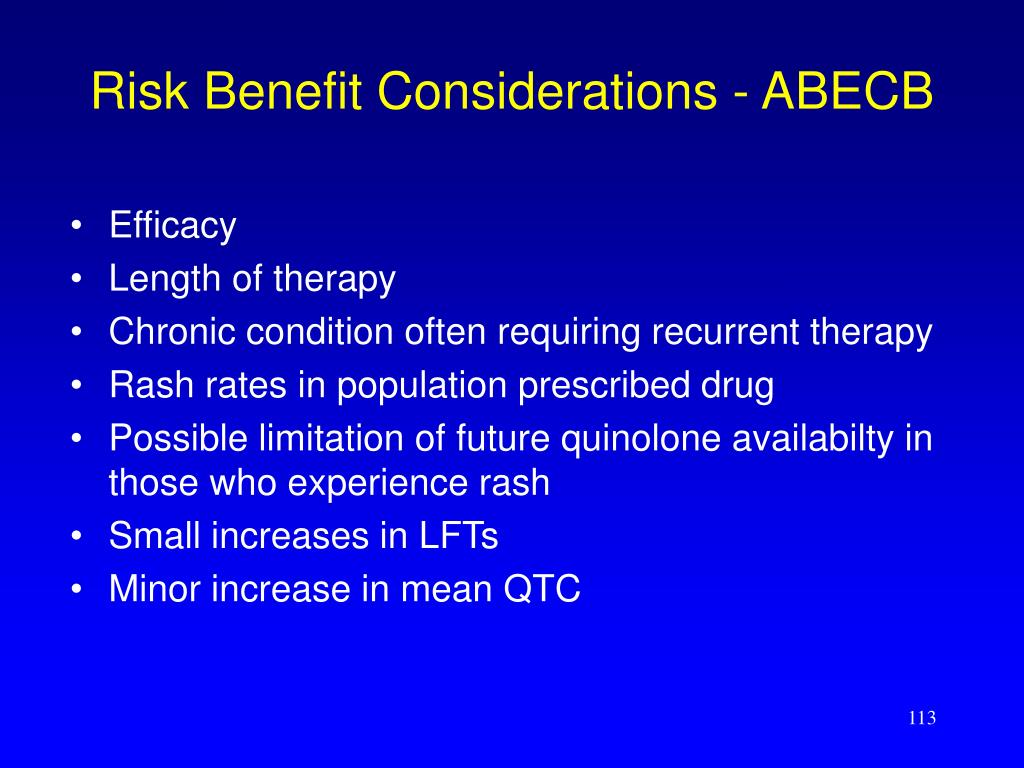 Risk Benefit Considerations - ABECB