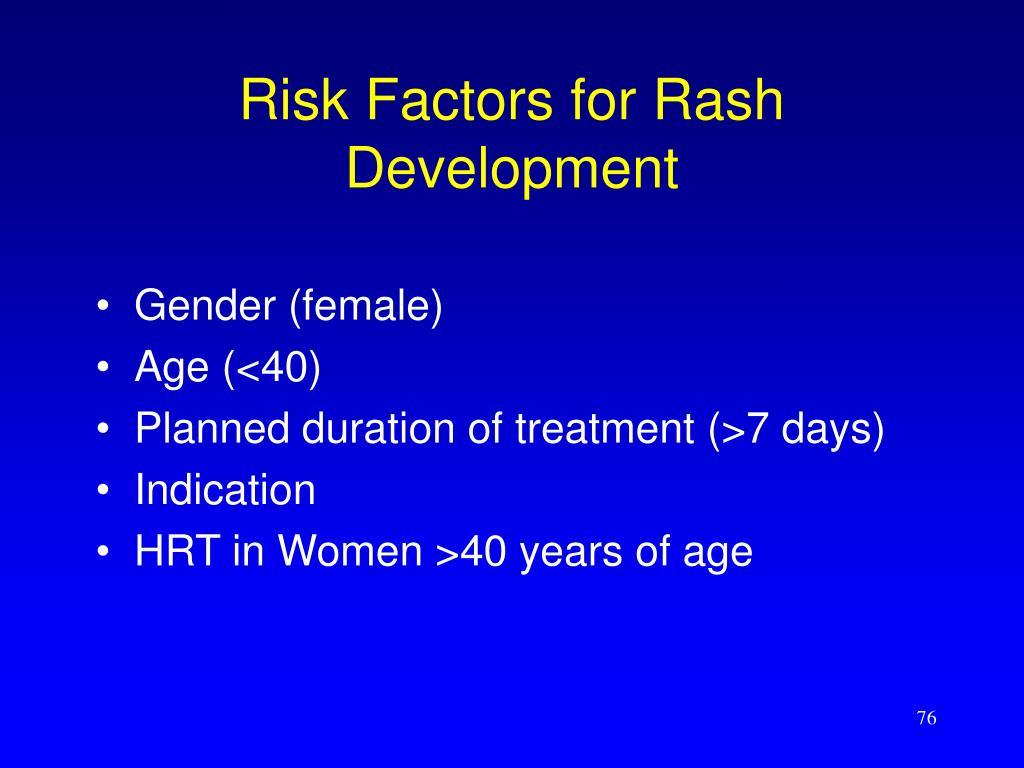 Risk Factors for Rash Development