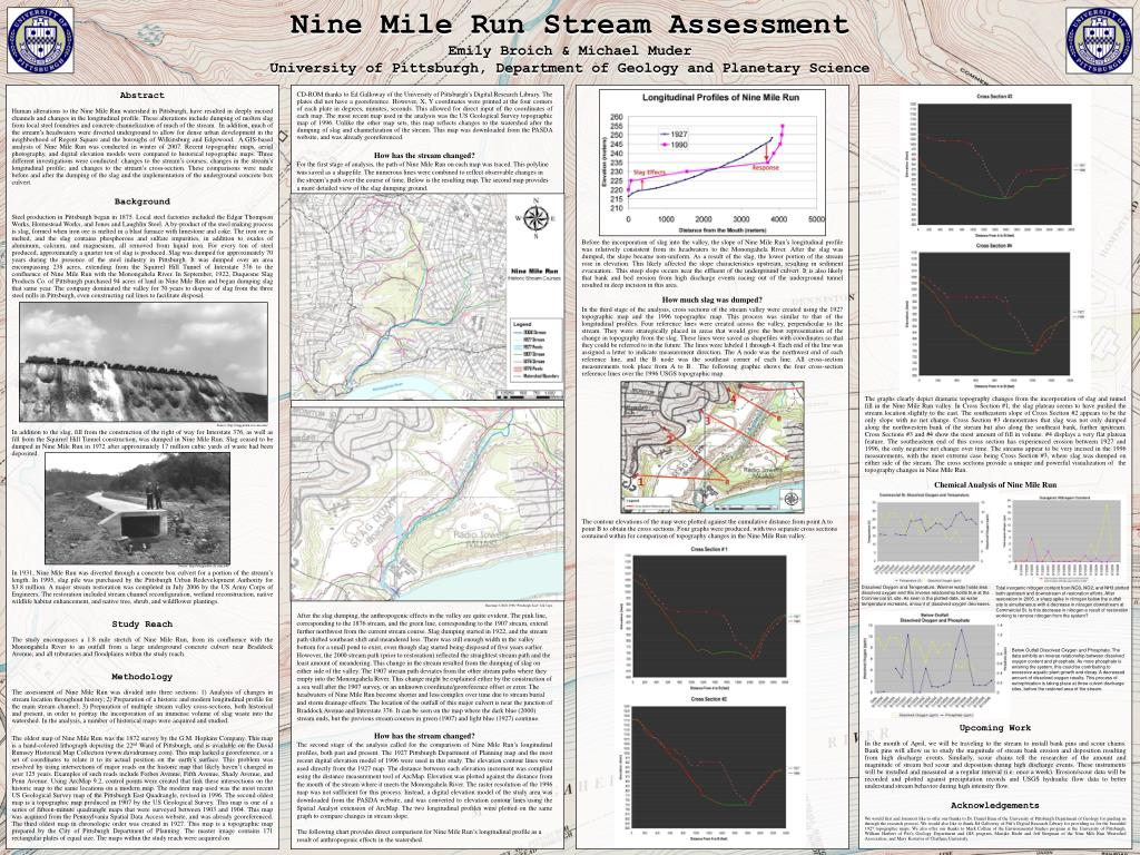 Nine Mile Run Stream Assessment