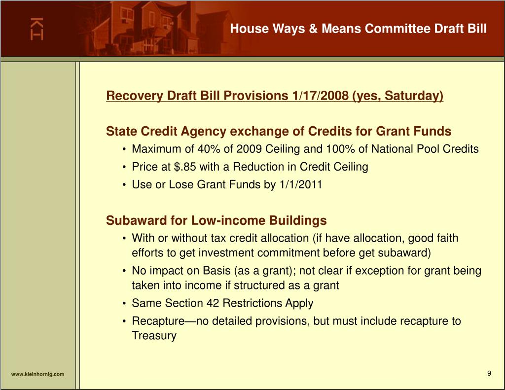 House Ways & Means Committee Draft Bill
