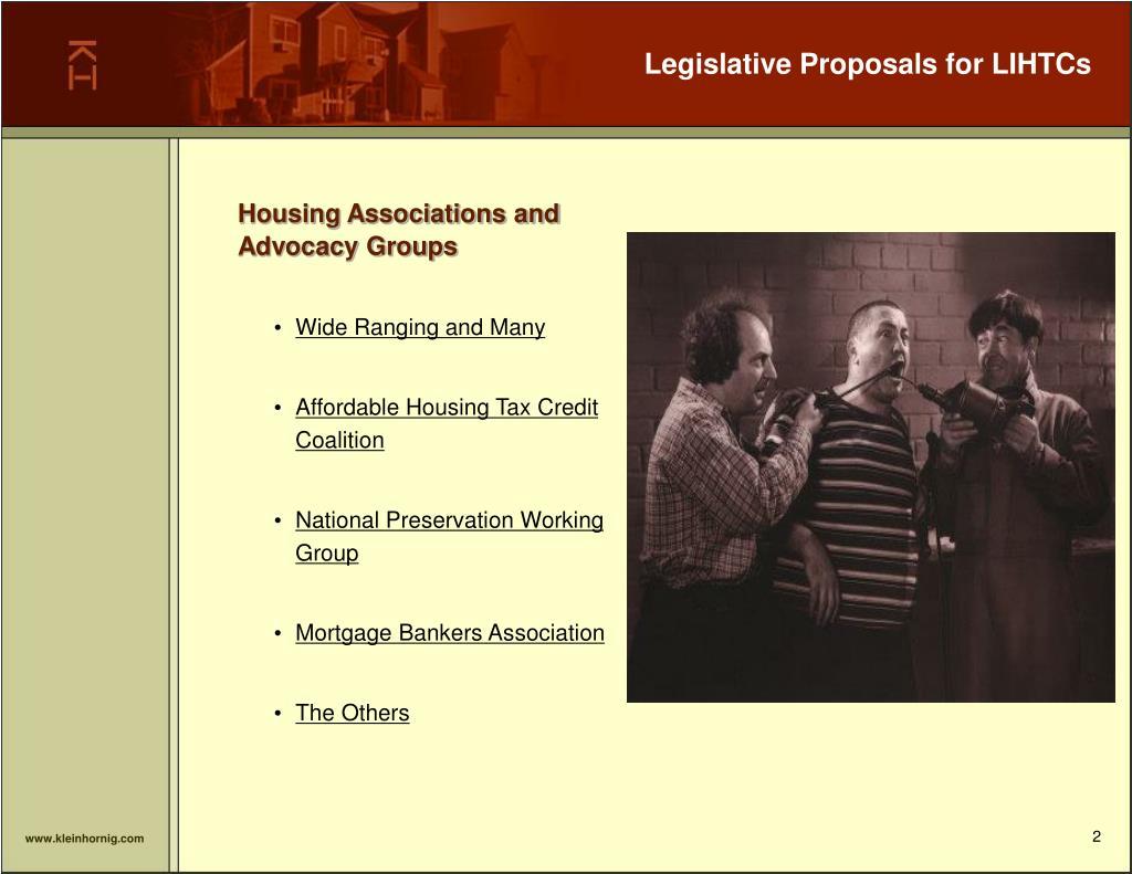 Legislative Proposals for LIHTCs