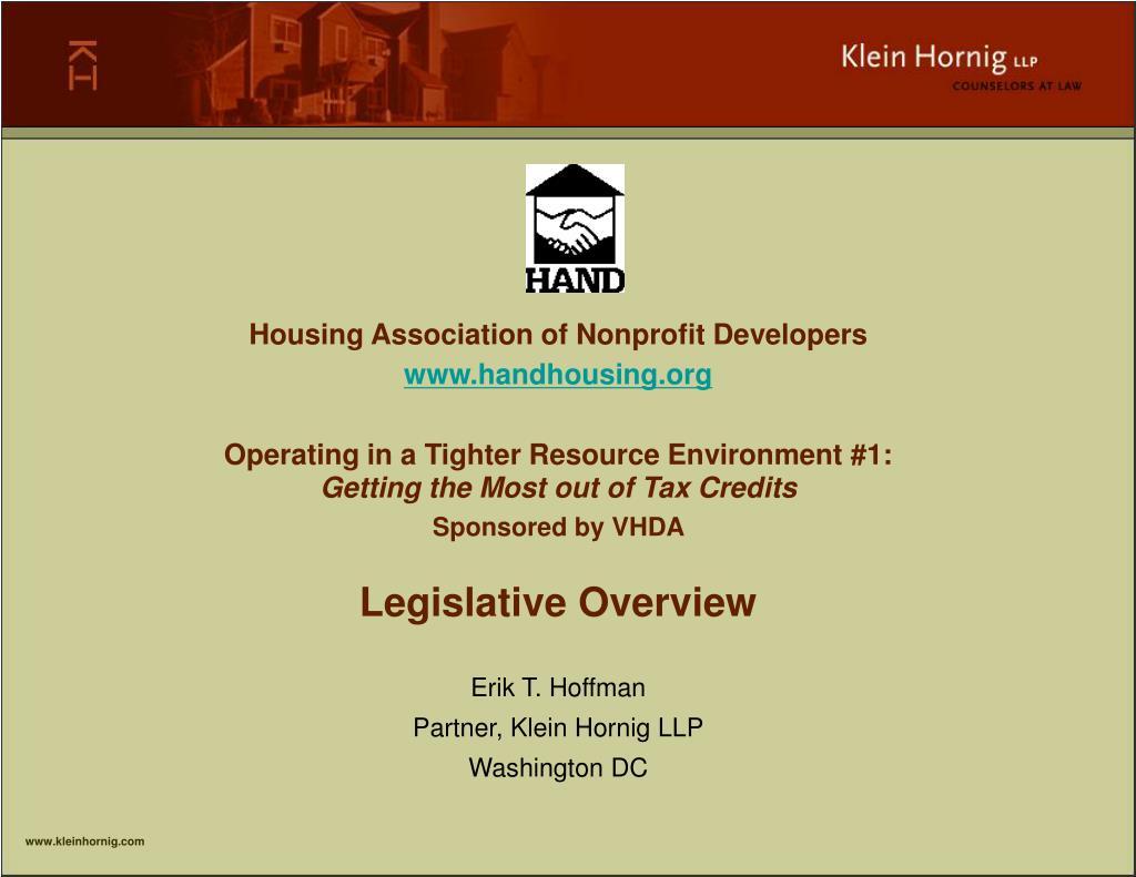 Housing Association of Nonprofit Developers