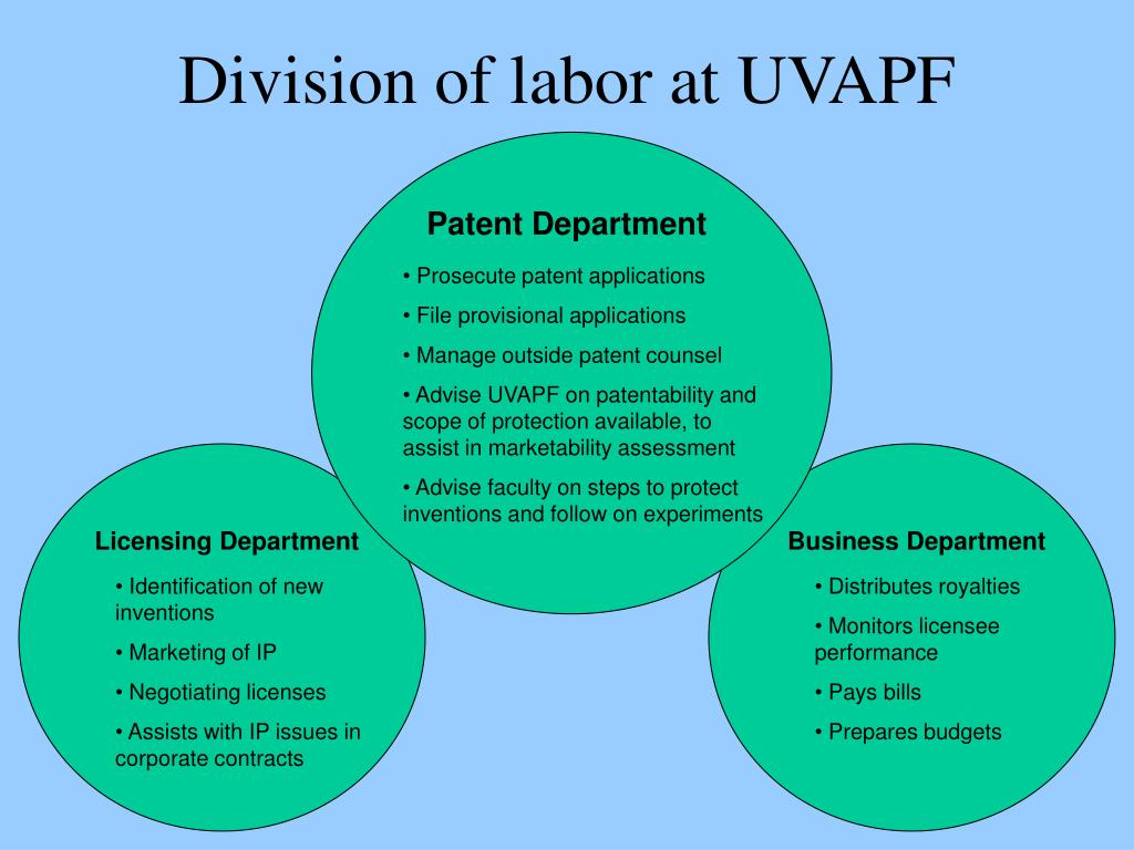 Division of labor at UVAPF