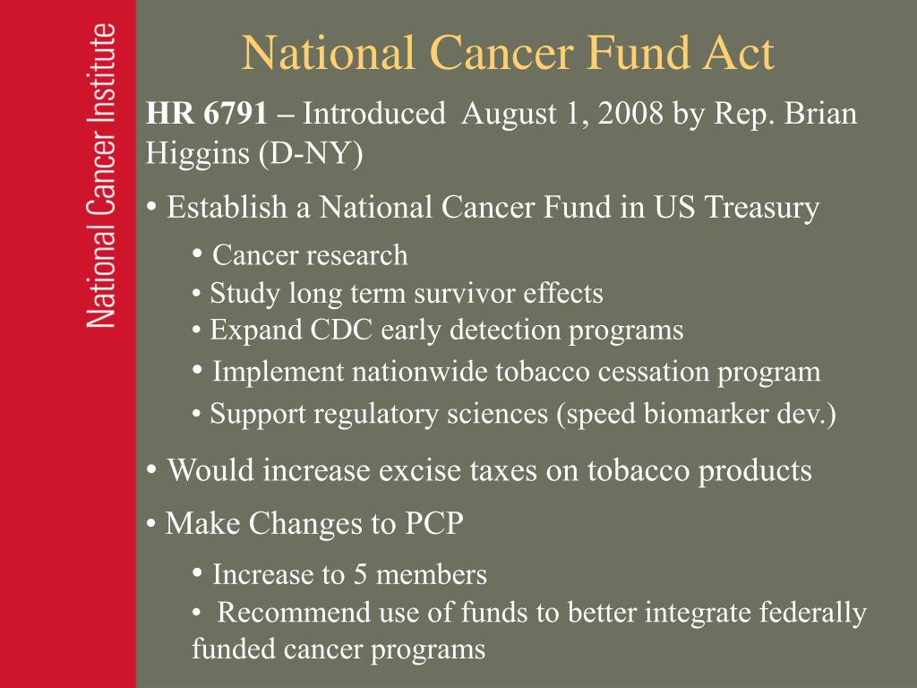 National Cancer Fund Act
