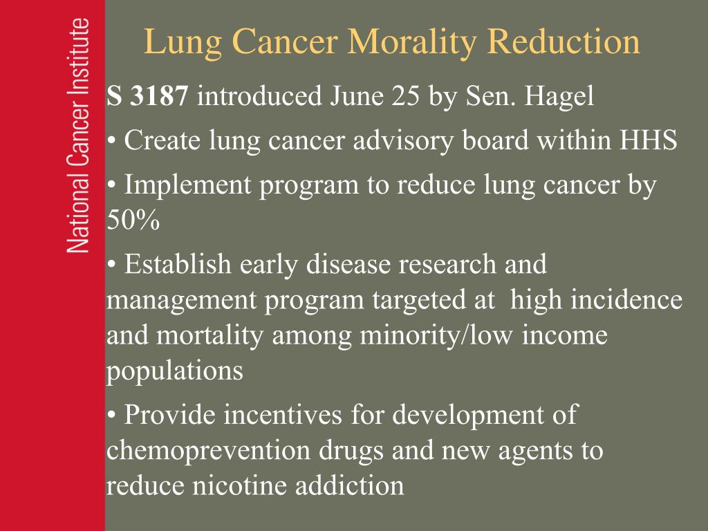 Lung Cancer Morality Reduction