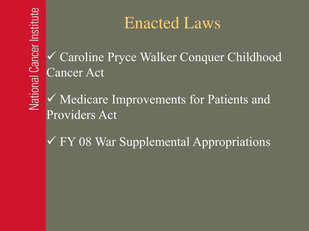 Enacted Laws
