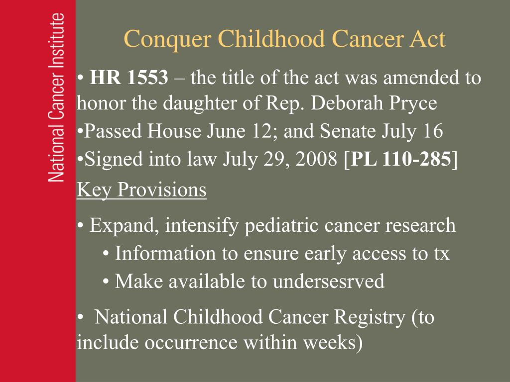 Conquer Childhood Cancer Act