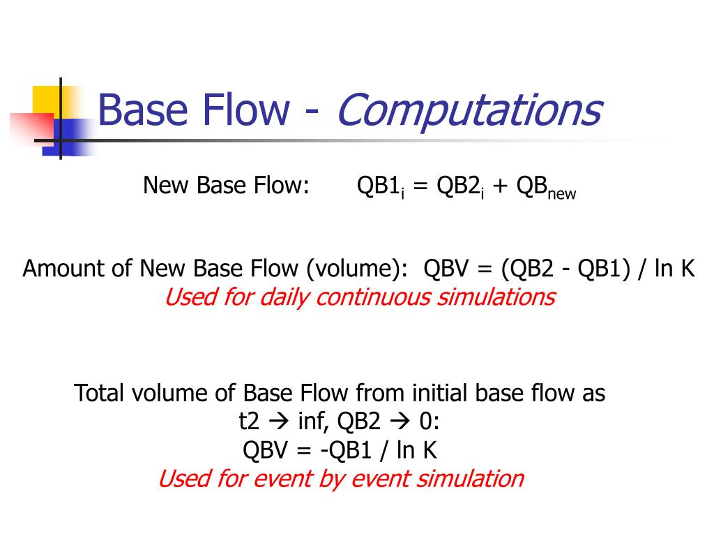 Base Flow -