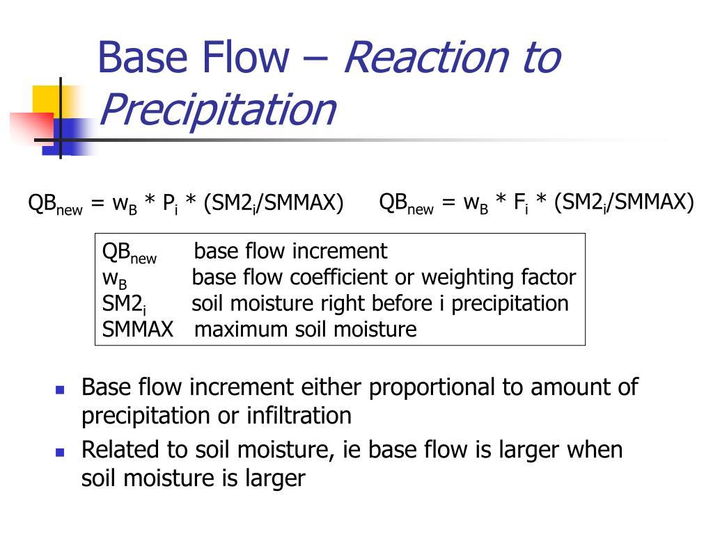 Base Flow –