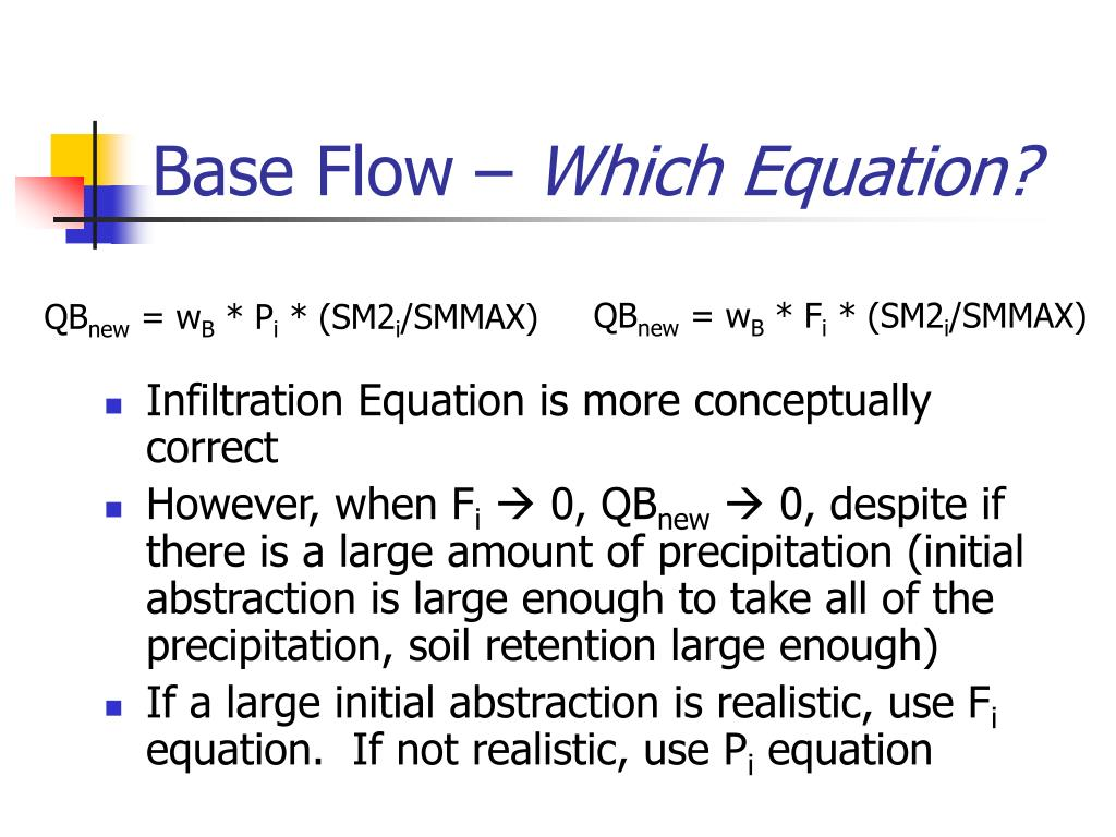 Infiltration Equation is more conceptually correct