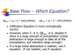 base flow which equation