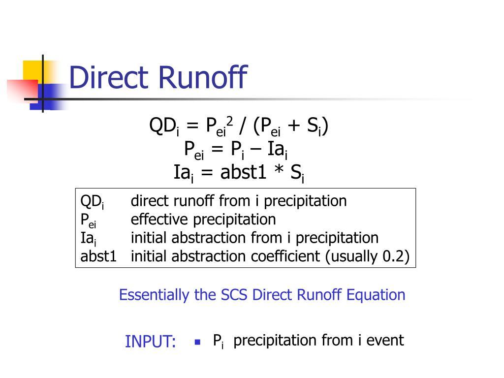 Direct Runoff