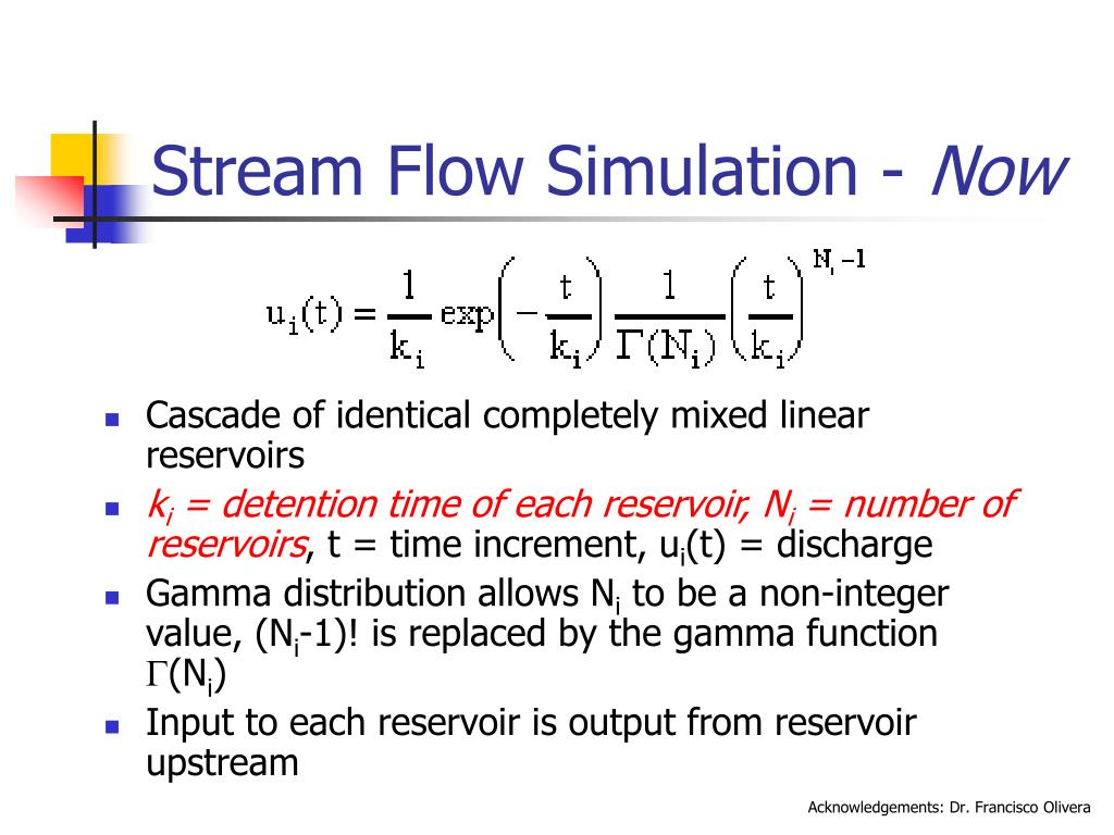 Stream Flow Simulation -