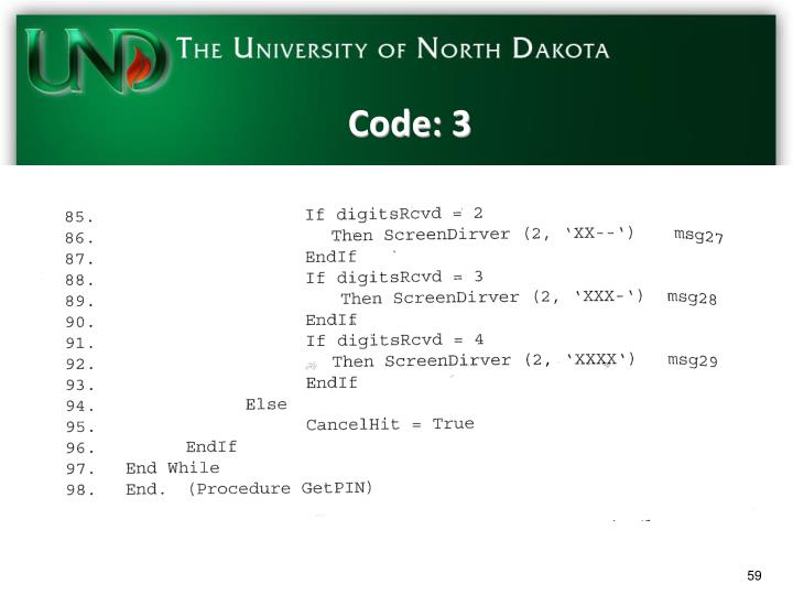 Code: 3