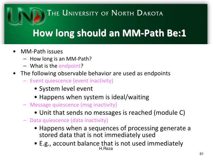 How long should an MM-Path Be:1