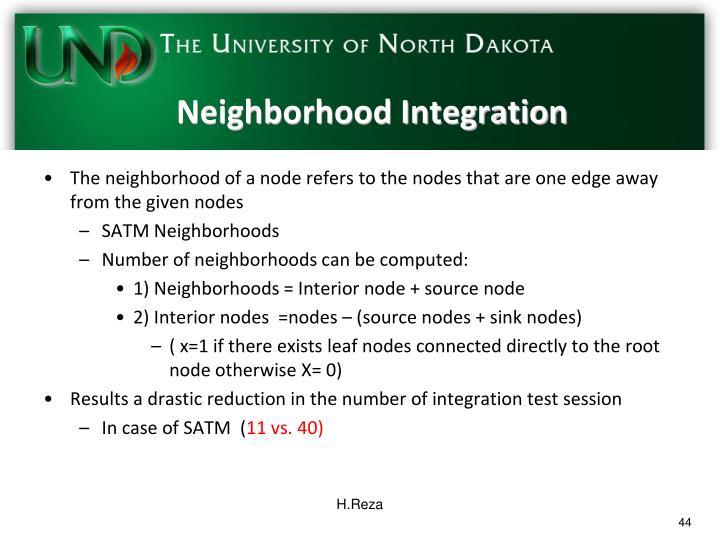 Neighborhood Integration