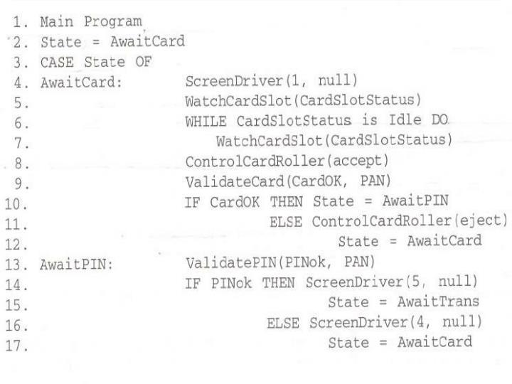 PDL description of SATM