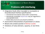 problems with interfacing