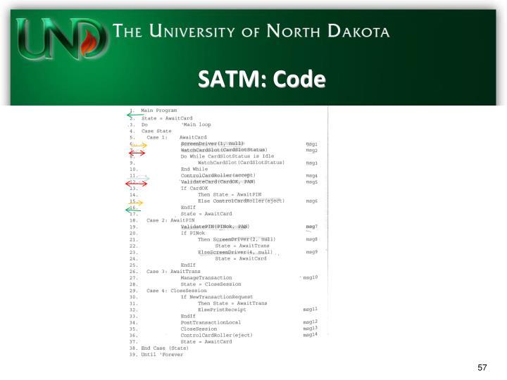 SATM: Code