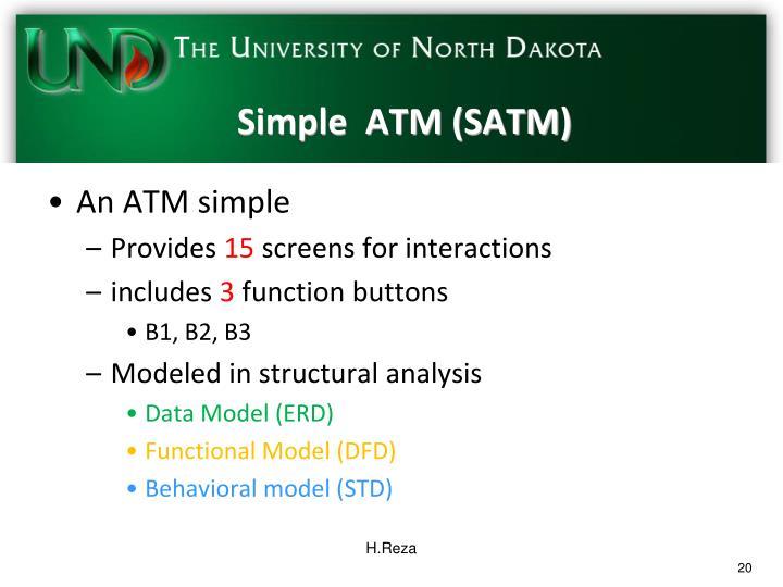 Simple  ATM (SATM)