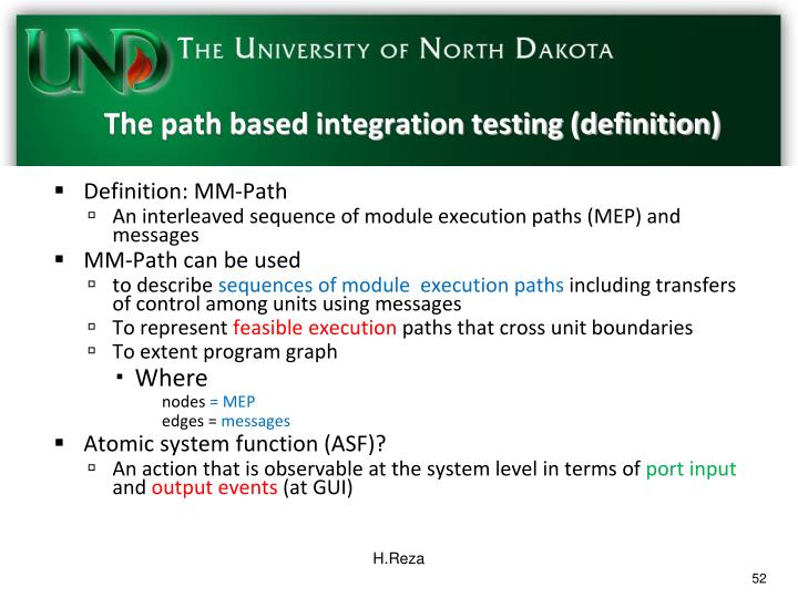 The path based integration testing (definition)