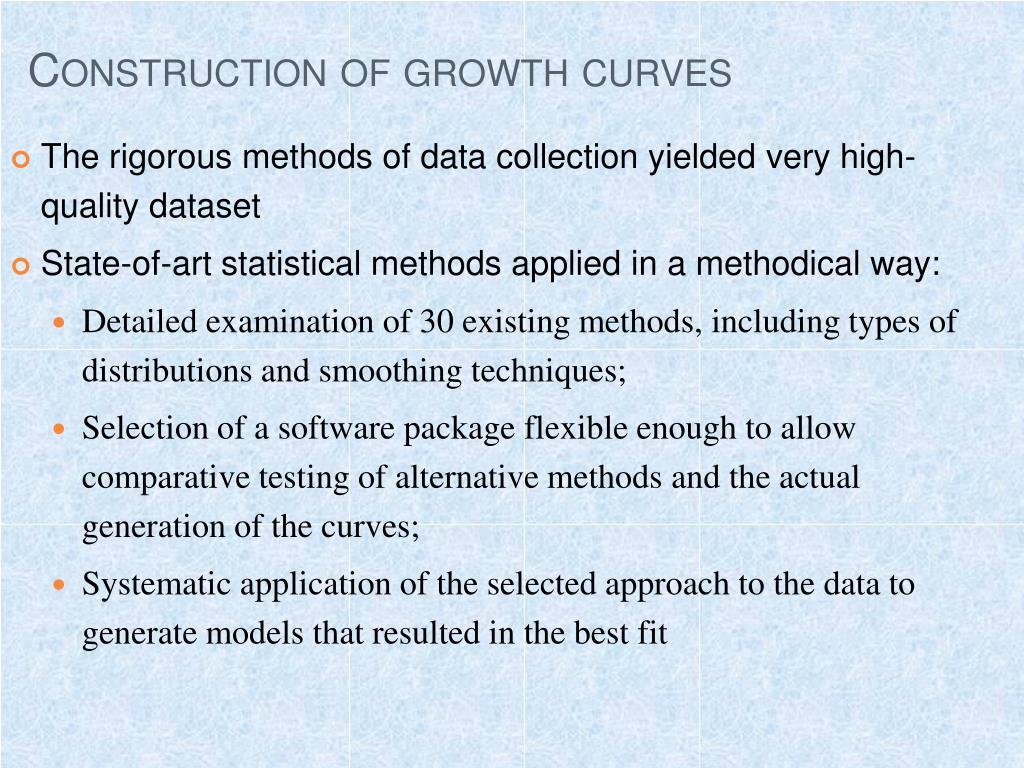 Construction of growth curves