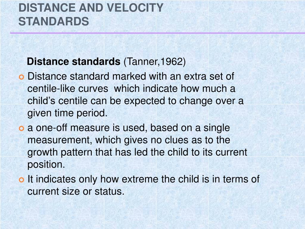 DISTANCE AND VELOCITY