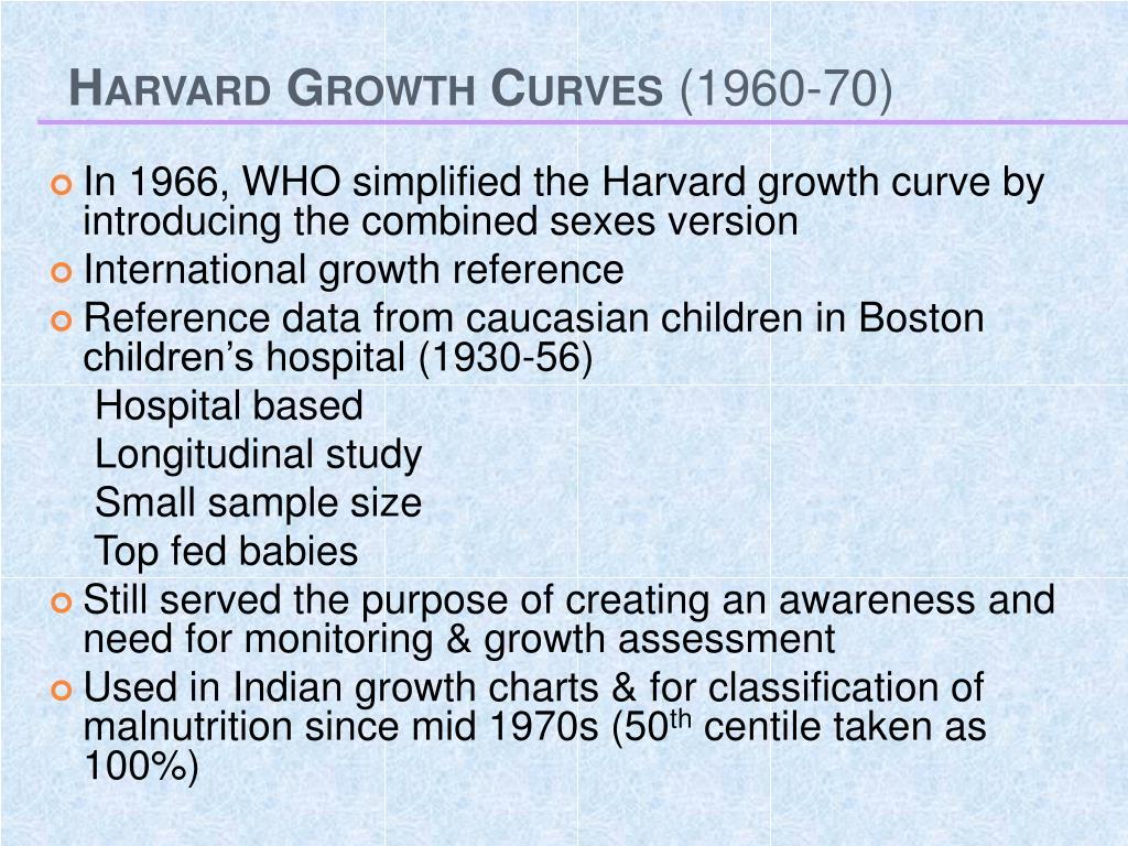 Harvard Growth Curves