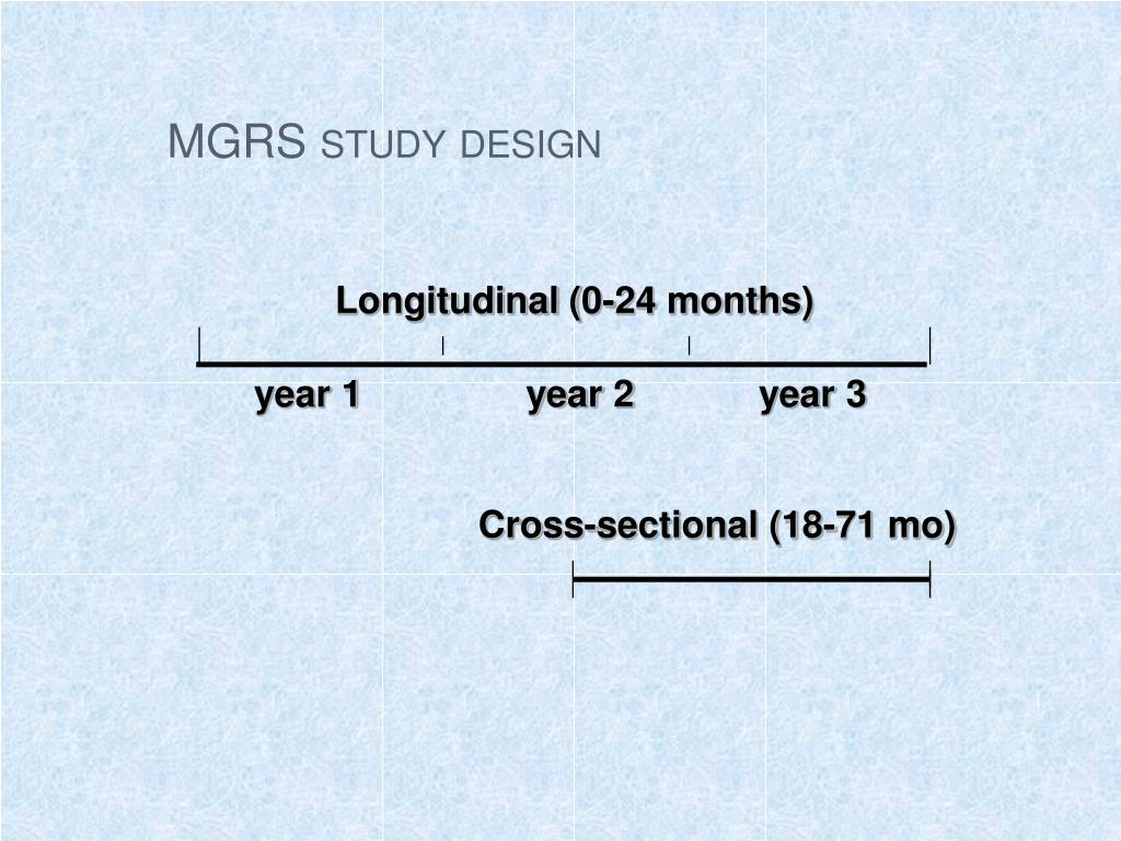 MGRS study design