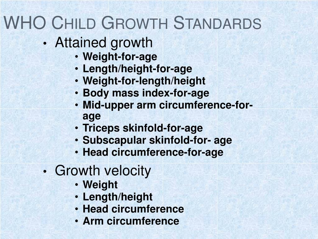 WHO Child Growth Standards