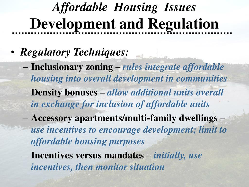 Affordable  Housing  Issues