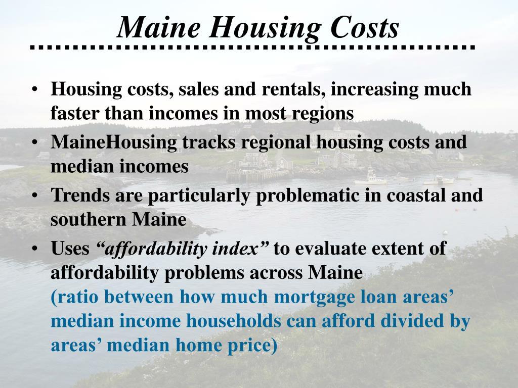 Maine Housing Costs