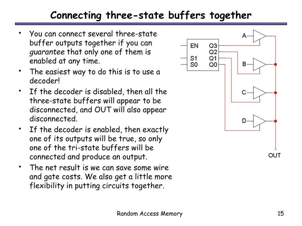 Connecting three-state buffers together