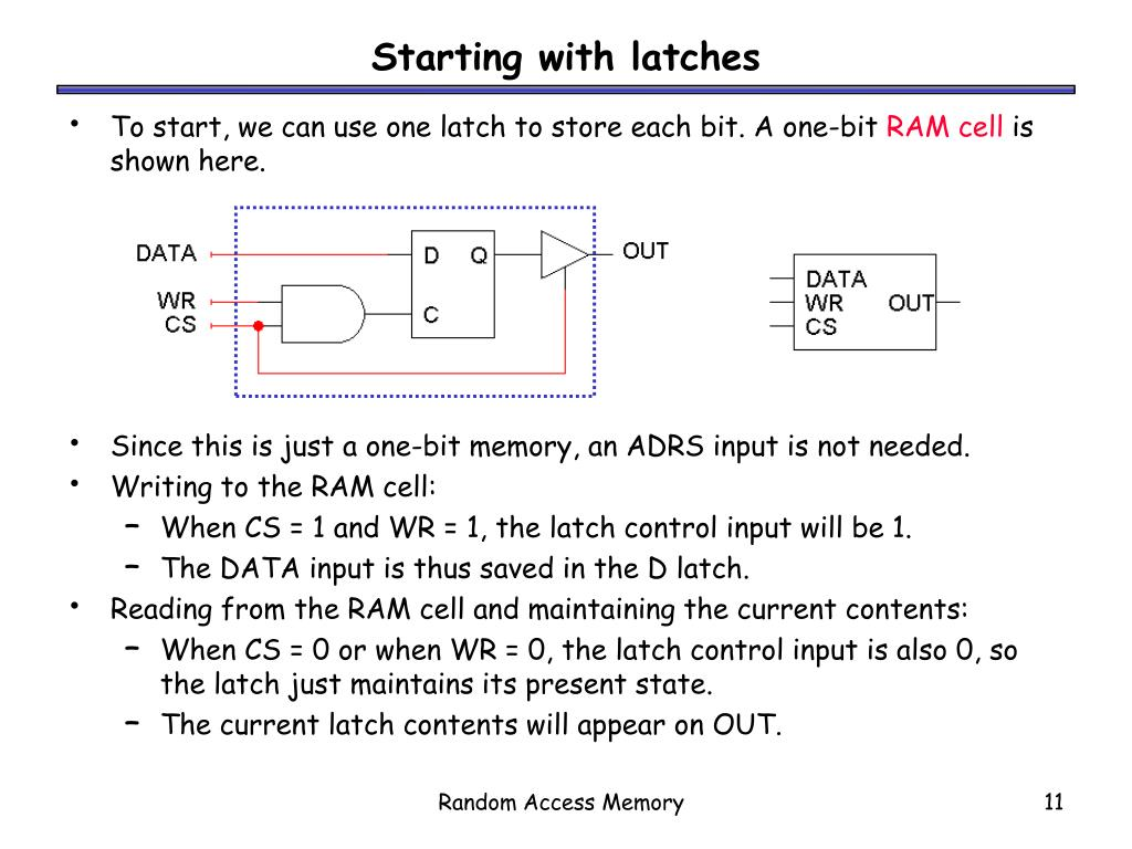 Starting with latches