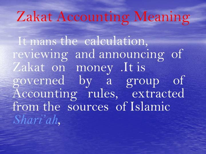 Zakat Accounting Meaning