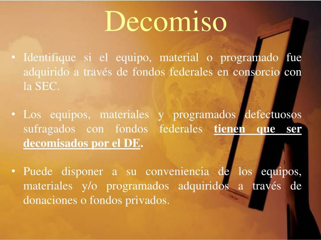 Decomiso