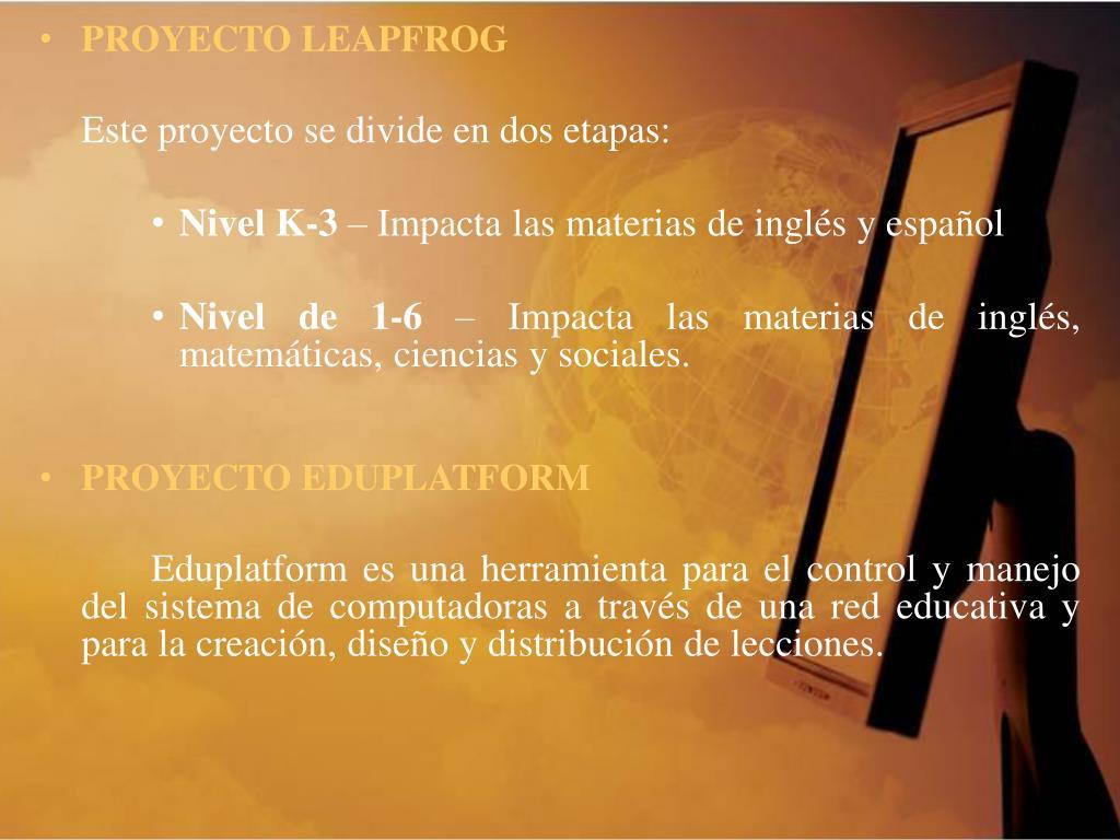 PROYECTO LEAPFROG