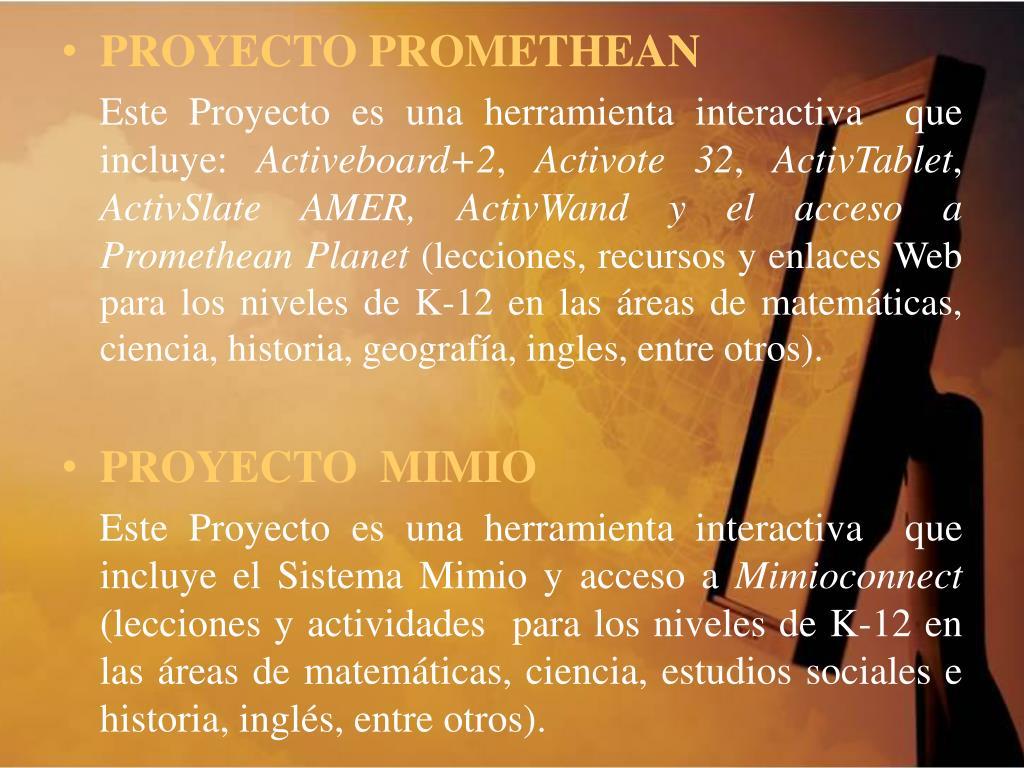 PROYECTO PROMETHEAN