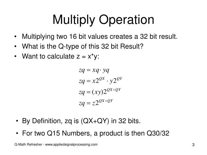 Multiply operation