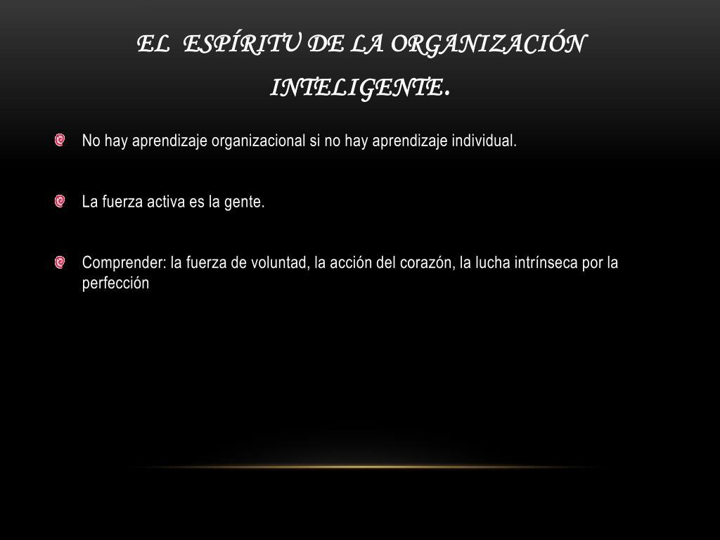 El  Espíritu de la Organización Inteligente