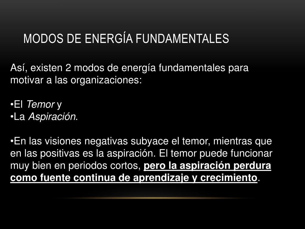 modos de energía fundamentales