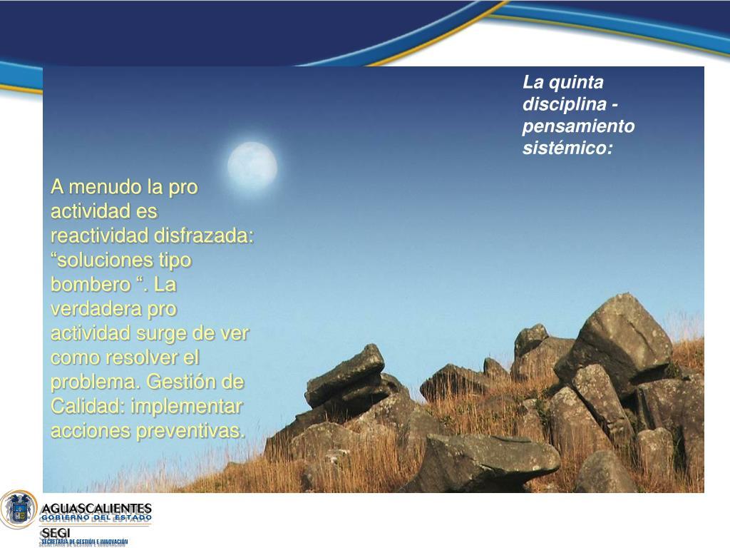 La quinta disciplina - pensamiento sistémico: