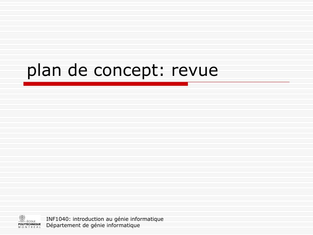 plan de concept: revue