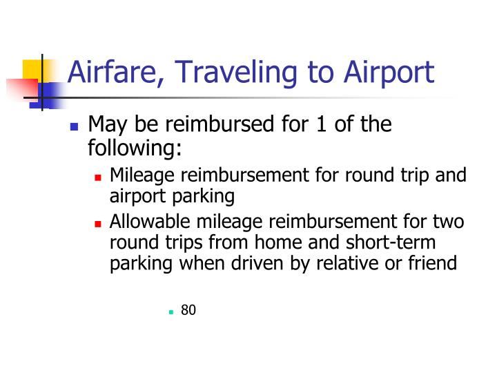 Airfare, Traveling to Airport