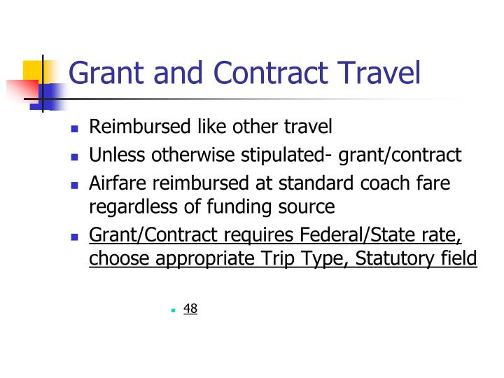 Grant and Contract Travel