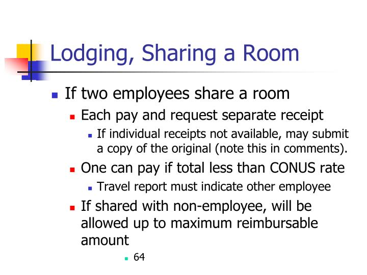 Lodging, Sharing a Room